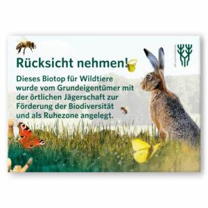 """Schild """"Wildäcker"""""""